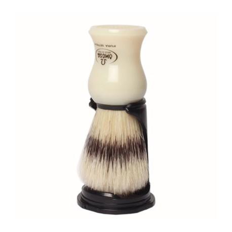 Omega šepetėlis su stovu. Ivory