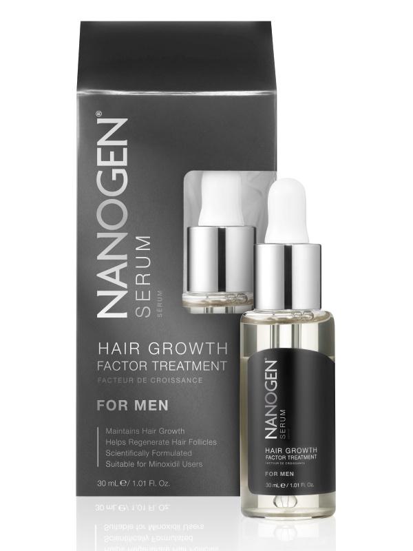 Nanogen Hair Growth Factor Treatment Serum Plaukų augimą skatinantis serumas vyrams, 30ml